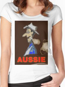 AUSSIE CHARACTOR Women's Fitted Scoop T-Shirt
