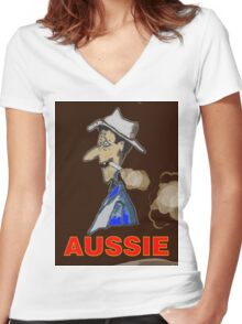 AUSSIE CHARACTOR Women's Fitted V-Neck T-Shirt