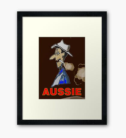 AUSSIE CHARACTOR Framed Print