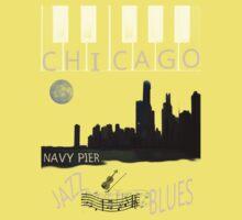 CHICAGO SKYLINE TEE Kids Clothes