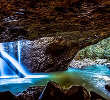 Natural Bridge Cave and Waterfall Springbrook National Park by MikeAndrew