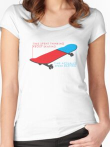 Skateboard infographic Women's Fitted Scoop T-Shirt