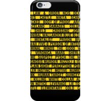 Crime Shows Police Tape iPhone Case/Skin