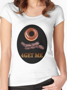 ✾◕‿◕✾DOUGHNUT (DOUGHKNOT) FORGET ME TEE SHIRT✾◕‿◕✾ Women's Fitted Scoop T-Shirt
