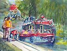 Narrowboats, Bradford on Avon. by ArtPearl