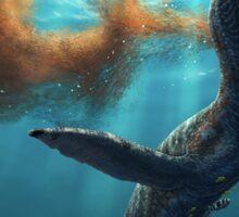 Krill feeding plesiosaurs Sticker