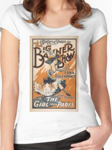 Vintage poster - The Girl from Paris Women's Fitted Scoop T-Shirt