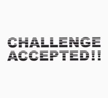 Challenge Accepted Stripes Design T-Shirt
