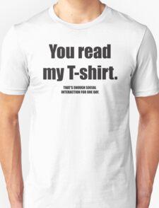 Social Interaction Unisex T-Shirt