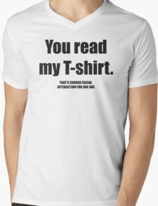Social Interaction Mens V-Neck T-Shirt