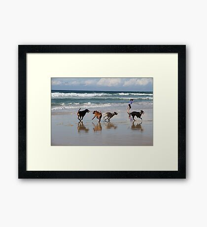 Running Free By the Sea Framed Print