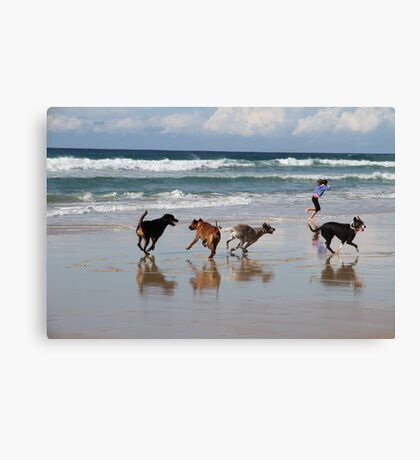 Running Free By the Sea Canvas Print