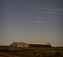 Hay rice mill, night shot by outbacksnaps