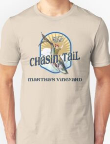 Chasin' Tail - Summer Fun - Martha's Vineyard - Vacation Souvenir T-Shirt - Girl Riding Fish Unisex T-Shirt