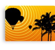 sunscene ballooning Canvas Print