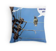 On a Hot High Wire Throw Pillow