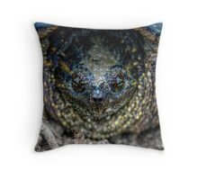 Snapping Turtle I Throw Pillow