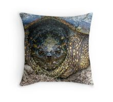 Snapping Turtle III Throw Pillow