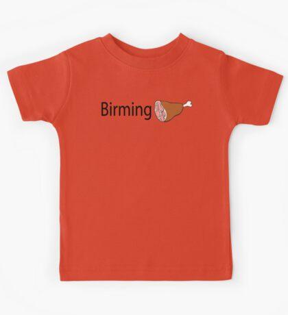 Birmingham Black text Kids Tee