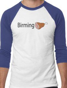 Birmingham Black text Men's Baseball ¾ T-Shirt