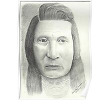 Native American - Pencil Portrait Poster
