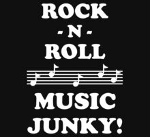 Rock N Roll Junky 10WHI Kids Clothes