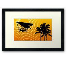 sunscene hang glide Framed Print