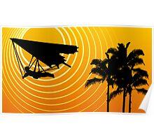 sunscene hang glide Poster