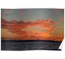Edmonds Summertime Sunset Poster