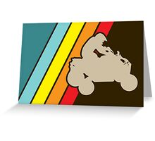 retro all terrain vehicle Greeting Card