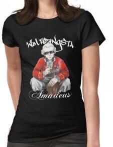 Wolfgangsta Amadeus (white writing) Womens Fitted T-Shirt