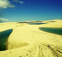 3 Lakes on Yellow Dunes - Jericoacoara, Brazil by ibadishi