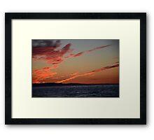 Supermoon Fire Sky Framed Print