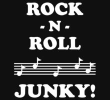 Rock N Roll Junky 12WHI Kids Clothes