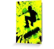 light burst skateboarding Greeting Card