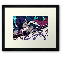 As the cherry blossoms fall... Framed Print