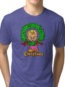 Merry Christmas Cindy Lou  Tri-blend T-Shirt