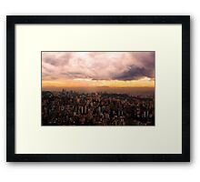 Belo Horizonte - The Cityscape from Above Framed Print
