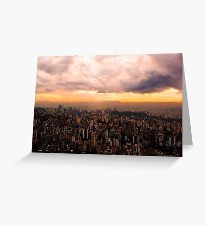 Belo Horizonte - The Cityscape from Above Greeting Card