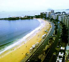 Copacabana's Curve on a Rainy Day by ibadishi