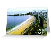 Copacabana's Curve on a Rainy Day Greeting Card