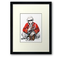 Wolfgangsta Amadeus (black writing) Framed Print