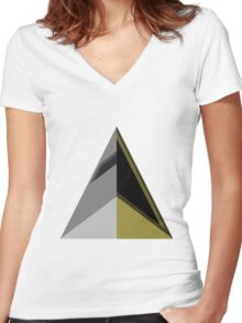 Daft Triangles Women's Fitted V-Neck T-Shirt