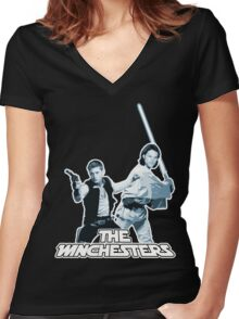 Winchester wars Women's Fitted V-Neck T-Shirt