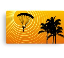 sunScene sky diving Canvas Print