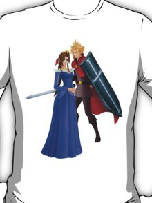 Aerith (Blue) And Cloud - Sleeping Beauty T-Shirt