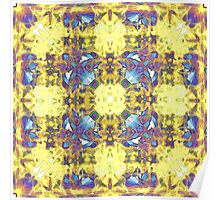 Abstract Yellow Purple Mandala Poster