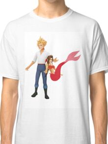 Aerith (Pink) and Cloud - Little Mermaid Classic T-Shirt