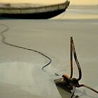 Fish Boat and Anchor on Low Tide  by ibadishi