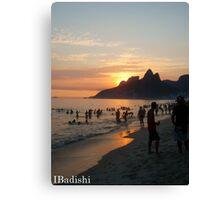 Ipanema Beach at Sunset, Rio de Janeiro, Brazil Canvas Print